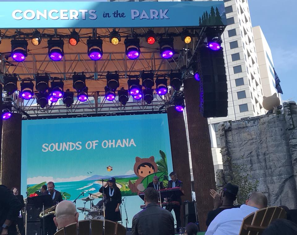 Dreamforce 2018 concert stage