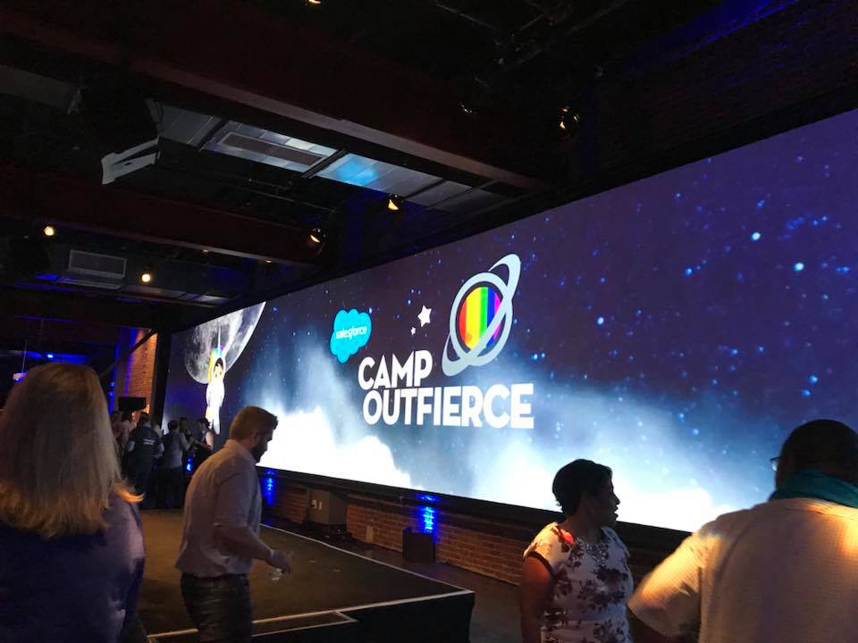 Outfierce party at Dreamforce 2018
