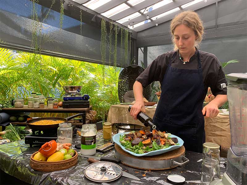 Tash cooking demonstration