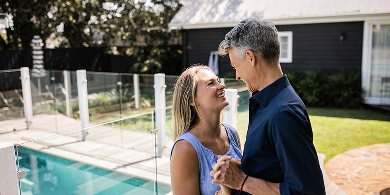 Tamara Klink Joel Norton at the Soul of Gerringong, swimming pool