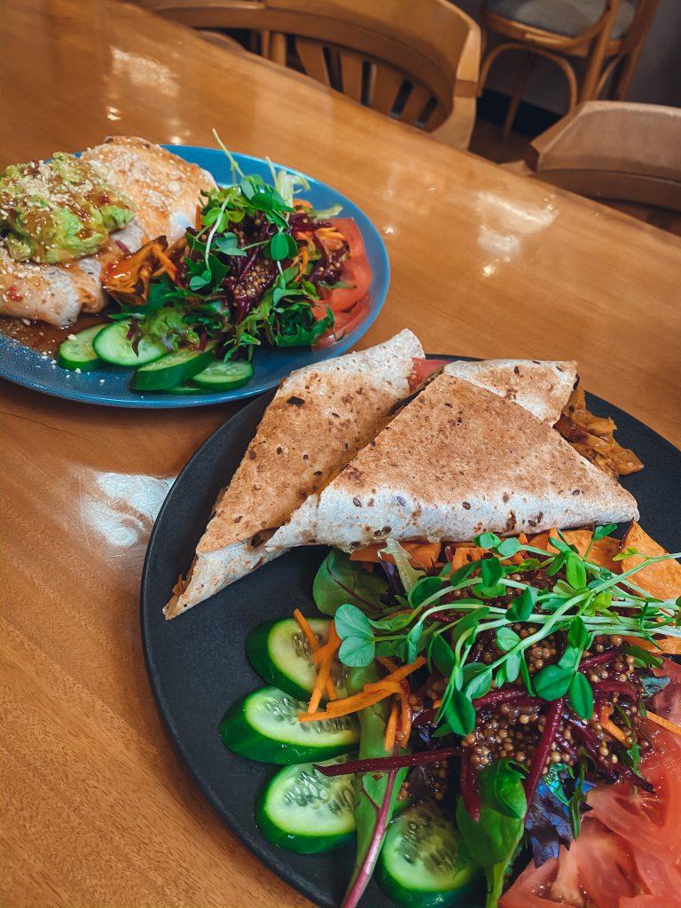 vegan bean burrito, Perfect Break Cafe Gerringong