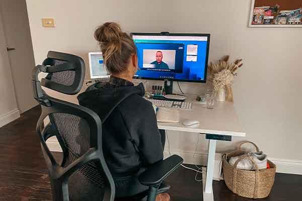 Tamara Klink watching IBM Cloud Forum 2020